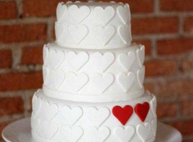 торт с сердцами